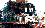 Wrecked GP 40-2 Locomotive before Rebuild