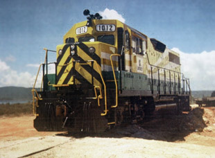 Repowered and remanufactured locomotive for Jamaican bauxite mine